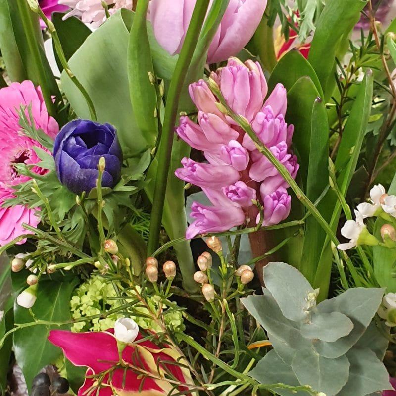 Choix de fleurs dans le pastel