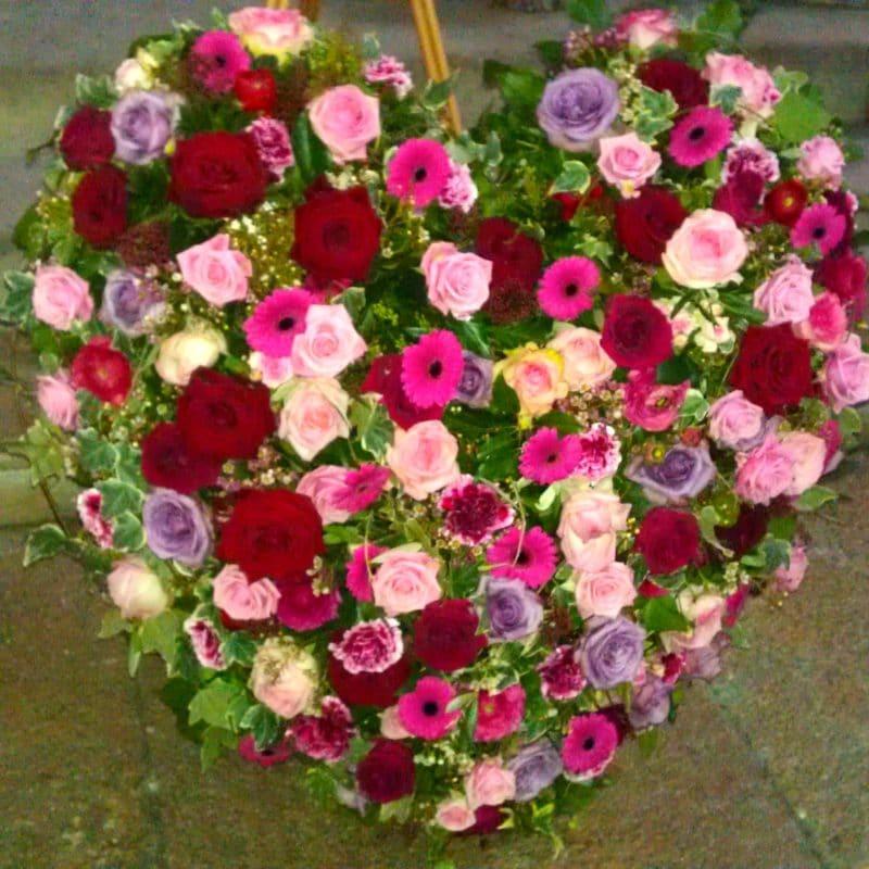 Coeur dans le rose